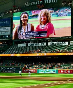 Karyn Stephens Presents C.R.E.A.M. Scholarship at Houston Astros Game