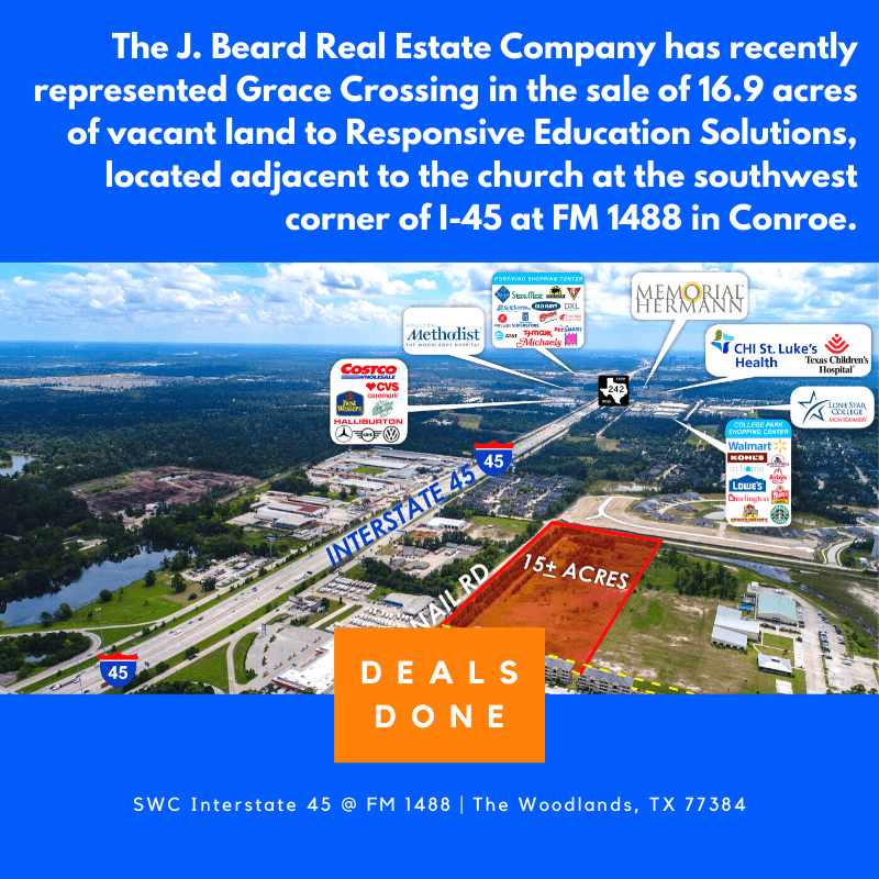The J. Beard Real Estate Company has recently represented the sale of 16.9 acres of vacant land